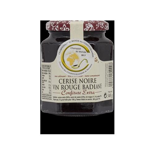 Confiture Cerise, vin rouge, badiane